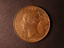 London Coins : A124 : Lot 658 : Penny 1854 Plain Trident Peck 1506 EF with some lustre, the obverse with some uneven tone