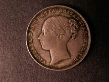 London Coins : A124 : Lot 856 : Shilling 1839 Second Young Head with No WW ESC 1278 GEF