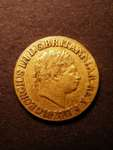 London Coins : A125 : Lot 1095 : Sovereign 1820 Large Date Open 2 Close to 8 S.3785C Fine