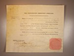 London Coins : A125 : Lot 91 : Great Britain, Winchester Cemetery Co., certificate No.269 for one share, 1841, prin...