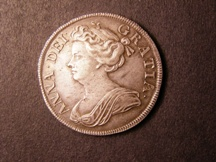 London Coins : A126 : Lot 1149 : Halfcrown 1712 Roses and Plumes ESC 582 EF and nicely toned with some light haymarking