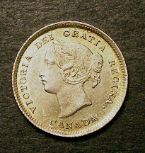 London Coins : A126 : Lot 455 : Canada 5 cents 1898 Good EF or better lovely tone sharp almost proof like strike