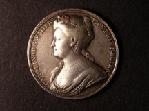 London Coins : A126 : Lot 647 : Coronation of Caroline 1727 34mm in Silver Eimer 512 the official Coronation issue Obv. Bust Left CA...