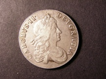 London Coins : A126 : Lot 877 : Crown 1666 XVIII edge ESC 32 VF/NVF