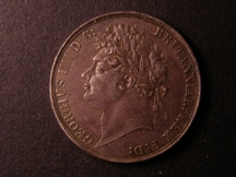 London Coins : A126 : Lot 912 : Crown 1821 SECUNDO ESC 246 Toned EF/GEF the fields proof-like, with some contact marks on the po...