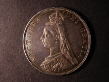 London Coins : A126 : Lot 959 : Double Florin 1888 ESC 397 EF/GEF attractively toned the obverse possibly once cleaned