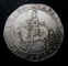 London Coins : A128 : Lot 870 : Crown Charles I Truro Mint mintmark Rose (issued 1642-3) Obverse King's head in profile, sash fl...