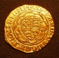 London Coins : A129 : Lot 1090 : Quarter Noble Edward III Fourth Coinage London Treaty Period (1361-1369) S.1510 GVF
