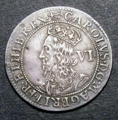 London Coins : A129 : Lot 1110 : Sixpence Charles I Briot's Coinage Second Milled Issue 1638-1639 mintmark Anchor and Mullet/Anchor V...