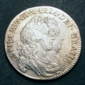 London Coins : A129 : Lot 1404 : Halfcrown 1693 QVINTO ESC 519 VF with a lightly toned with some adjustment marks