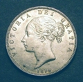 London Coins : A129 : Lot 1469 : Halfcrown 1874 ESC 692 EF with a few dark spots on the obverse