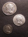 London Coins : A129 : Lot 1576 : Maundy a 3-part set 1786 comprising Threepence VF, Twopence EF, Penny NEF toned