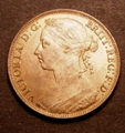 London Coins : A129 : Lot 1702 : Penny 1887 Freeman 125 dies 12+N UNC with good lustre