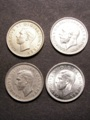 London Coins : A129 : Lot 1923 : Sixpences (4) 1936 ESC 1825 UNC, 1941 ESC 1831 UNC, 1949 ESC 1838A UNC, 1952 ESC 1838F E...