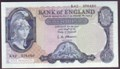 London Coins : A129 : Lot 264 : Five pounds O'Brien B280 Helmeted Britannia issued 1961 last series prefix K42, UNC