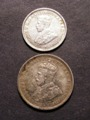 London Coins : A129 : Lot 740 : Australia 3d 1911 and Shilling 1921 both VF or near so and the shilling scarce