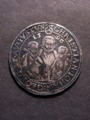 London Coins : A129 : Lot 800 : German States - Saxony Thaler 1596 DAV#9820 Good Fine darkly toned