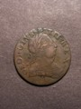 London Coins : A129 : Lot 991 : Halfpenny George III Obverse Brockage undated possibly a contemporary counterfeit, Fine and unus...