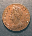 London Coins : A130 : Lot 1383 : Halfpenny 1749 Peck 879 Toned UNC with glossy fields and a few light surface marks