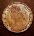 London Coins : A130 : Lot 1609 : Penny 1878 Freeman 94 dies 8+J UNC with good, subdued lustre