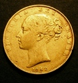 London Coins : A130 : Lot 1867 : Sovereign 1842 Open 2 in date, unlisted by Marsh, now listed by Spink Near Fine/Fine and Ver...