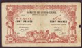 London Coins : A130 : Lot 341 : Djibouti 100 francs (French Somaliland) dated 2nd January 1920 series C.51, Pick5, paper spl...