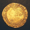 London Coins : A130 : Lot 968 : Double Crown Charles I Tower Mint Under King First Bust mint mark Lis pleasant Fine obverse double s...