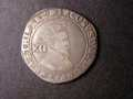 London Coins : A131 : Lot 1039 : Shilling James I Second Coinage Third Bust S.2654 mintmark Lis 1604-1605 Fine