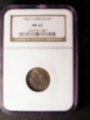London Coins : A132 : Lot 1372 : Sixpence 1825 NGC MS 63
