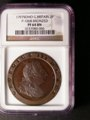 London Coins : A132 : Lot 1379 : Twopence 1797 Bronzed Proof Peck 1068 with reverse inverted NGC PF64 BN