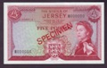 London Coins : A132 : Lot 413 : Jersey £5 Specimen, QE2 portrait, issued 1963 serial B000000, Clennet signature (s...