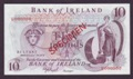 London Coins : A132 : Lot 422 : Northern Ireland Bank of Ireland £10 SPECIMEN serial number U000000 issued 1977, O'Neill s...