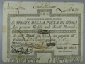 London Coins : A132 : Lot 85 : Italy, S. Monte Della Piet?a Di Roma, 10% Loan, bearer certificate for 8 scudi, ...