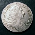 London Coins : A132 : Lot 876 : Crown 1696 OCTAVO ESC 89 EF with traces of gold tone and a few light haymarks