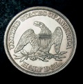 London Coins : A133 : Lot 1524 : USA Half Dollar 1858 Breen 4878 Lustrous UNC with a few minor contact marks