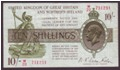 London Coins : A134 : Lot 167 : Treasury 10 shillings Warren Fisher T33 issued 1927, Northern Ireland, serial W/20 751251...