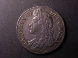 London Coins : A134 : Lot 1823 : Crown 1688 QVARTO ESC 80 NEF and with a pleasing grey tone, and a small edge flaw below the bust