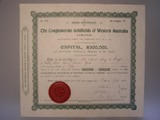 London Coins : A134 : Lot 3 : Australia, Conglomerate Goldfields of western Australia Ltd., share certificate, 1902&#4...