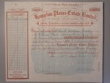 London Coins : A134 : Lot 5 : Australia, Hampton Plains Estate Ltd., share certificate, 1897, mine near Coolgardie...