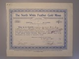 London Coins : A134 : Lot 8 : Australia, North White Feather Gold Mines Ltd., share certificate, 1927, Western Aus...