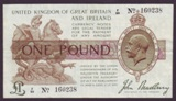 London Coins : A134 : Lot 86 : One Pound Bradbury. T16. F/90 160238. VF.