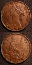London Coins : A144 : Lot 1814 : Pennies 1874H (2) Freeman 66 dies 6+G EF, Freeman 73 dies 7+H About EF both with contact marks