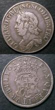London Coins : A144 : Lot 1891 : Shilling 1658 Cromwell ESC 1005 Fine/Good Fine with a few light old scratches, along with Shilling 1...