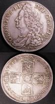 London Coins : A145 : Lot 1769 : Halfcrowns (2) 1745 LIMA ESC 605 VF nicely toned, 1746 LIMA ESC 606 VF or near so