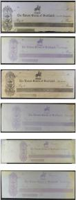 London Coins : A146 : Lot 476 : Scotland, Specimen Cheques 1800's (6), The Union Bank of Scotland, branches include Castle Doug...