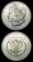 London Coins : A150 : Lot 1316 : USA Dollars 1878 CC and 1883 CC, Morgan Carson City the 1878 EF the 1883 BU