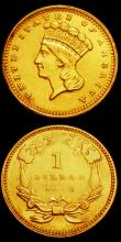 London Coins : A150 : Lot 1325 : USA Gold Dollars (2) 1851 O Large O Breen 6018 About VF, 1859 Breen 6059 GVF/VF