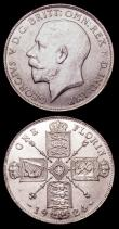 London Coins : A151 : Lot 2470 : Florins (2) 1924 ESC 943 UNC or near so and lustrous with some light contact marks, 1926 ESC 945 UNC...