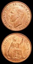 London Coins : A151 : Lot 2766 : Pennies (2) 1950 Freeman 240 dies 3+C UNC or near so with traces of lustre, 1951 Freeman 242 dies 3+...