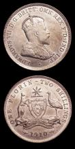 London Coins : A151 : Lot 892 : Australia Florin 1910 KM#21 VF/NEF with some contact marks and small rim nicks, Sixpence 1910 KM#19 ...